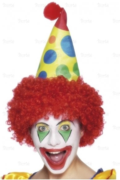 Klouno perukas su kepure