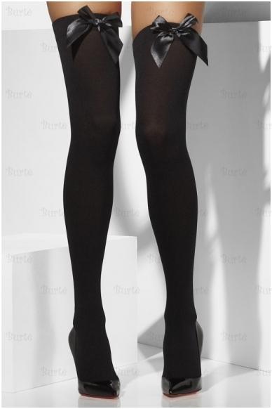 Juodos kojinės su kaspinėliais 4
