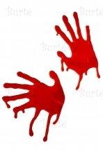Kraujuoti rankų antspaudai