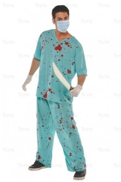 Kruvinas gydytojo kostiumas