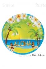 Lėkštės Havajų vakarėliui
