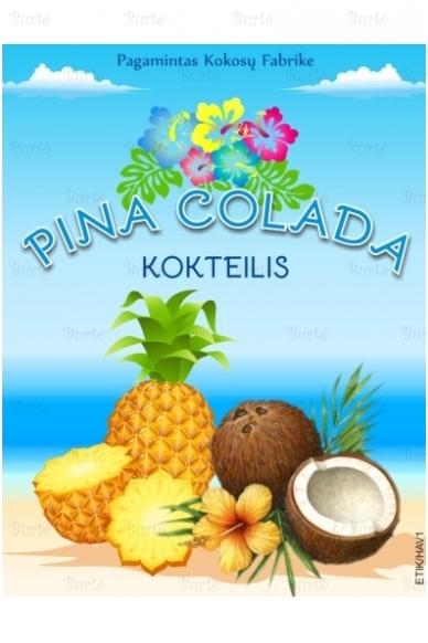 "Lipni etiketė ""PINA COLADA kokteilis"""