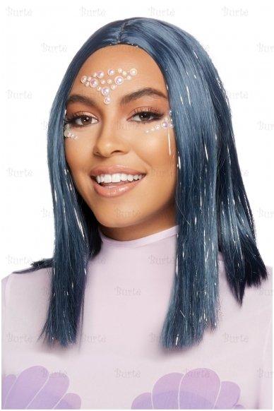 Mėlynas perukas 3