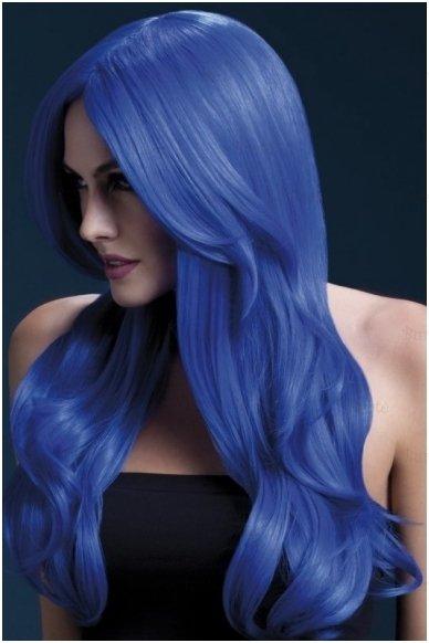 Mėlynų plaukų perukas Khloe