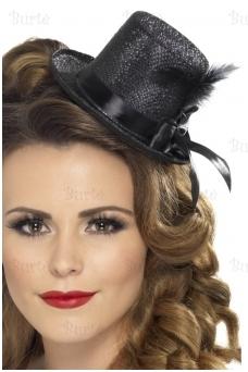 Mini skrybėlaitė, juoda