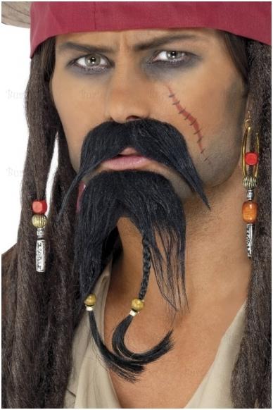 Pirato priklijuojama barzda su ūsais