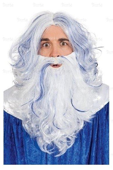 Neptūno perukas su barzda
