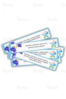 Pažadų kortelės krikštynoms