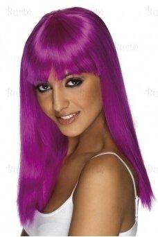Violetinių plaukų perukas