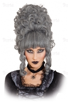 Pilkas ponios Pompadur perukas