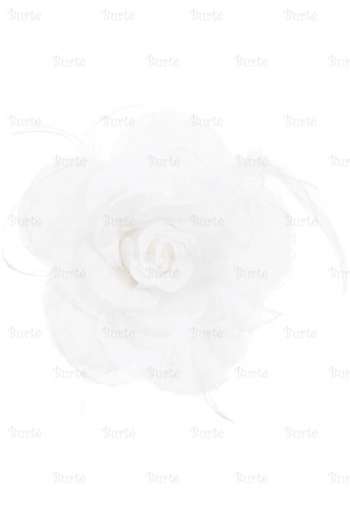 Заколка цветок, белая