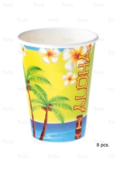 Puodeliai Havajų vakarėliui