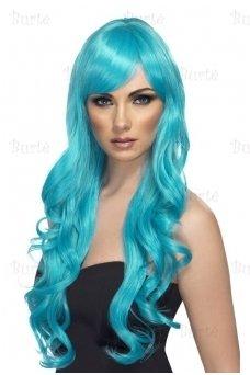 Aqua spalvos perukas
