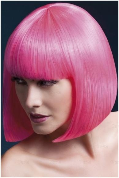 Rožinės spalvos perukas Elise