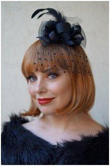 Retro skrybėlaitė, juoda