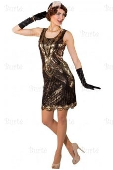 Black and gold dress 20's