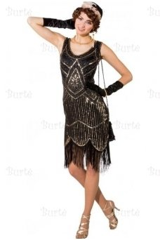 Black and silver dress 20's
