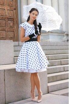 Rokenrolo stiliaus suknelė