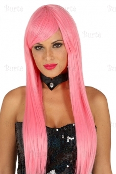 Straight pink wig