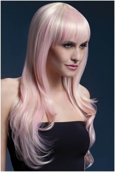 Rožinės blondinės perukas Sienna