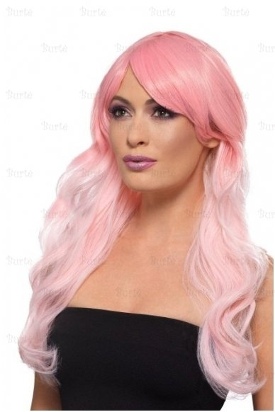 Rožinis perukas