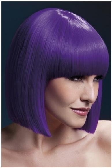 Violetinės spalvos perukas Lola