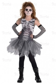 Child Costume Black & Bone Dress