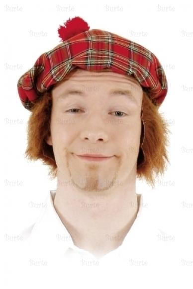 Škoto kepurė su plaukais