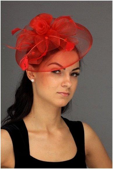 Retro skrybėlaitė, raudona 2