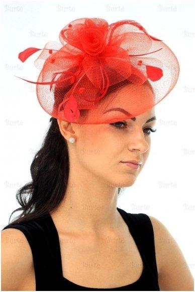 Retro skrybėlaitė, raudona 3