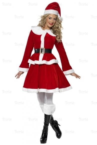 Костюм мисс Санта с муфтой