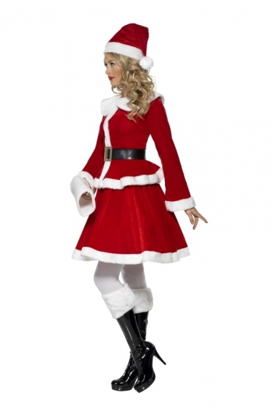 Костюм мисс Санта с муфтой 2