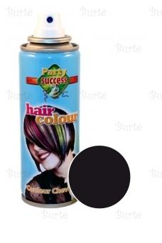 Spalvotas plaukų lakas, juodas