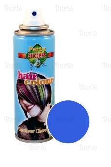 Spalvotas plaukų lakas, mėlynas