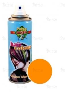 Spalvotas plaukų lakas, oranžinis