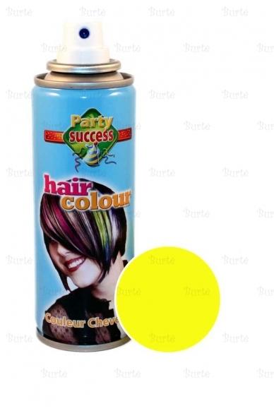 Spalvotas plaukų lakas, geltonas