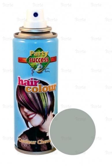 Spalvotas plaukų lakas, pilkas