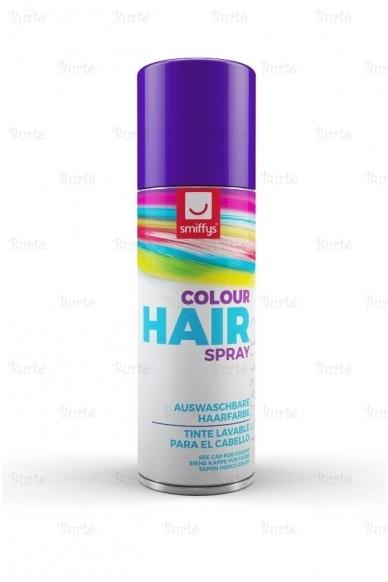 Spalvotas plaukų lakas, violetinis