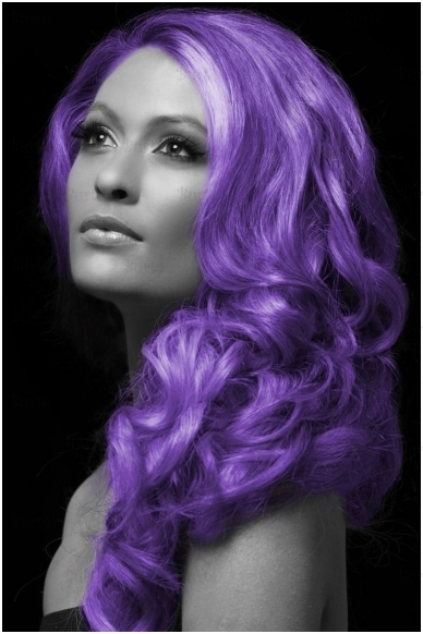 Spalvotas plaukų lakas, violetinis 2