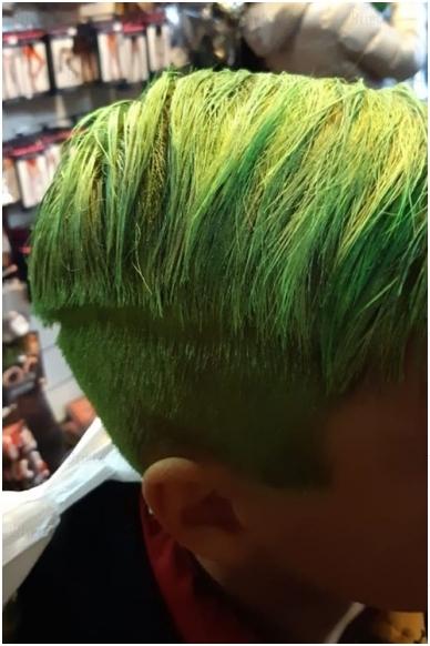 Spalvoti plaukų dažai, žali 3