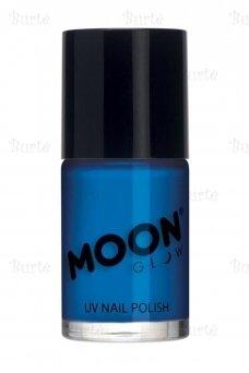 Šviečiantis UV nagų lakas, mėlynas