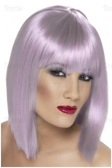 Šviesiai violetinis perukas