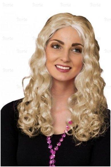 Šviesių plaukų perukas