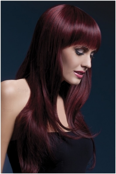 Tamsios vyšnios spalvos perukas Sienna