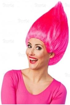 Trolio perukas, rožinis