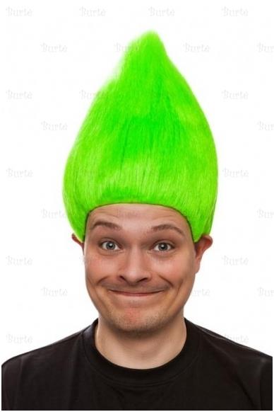 Trolio perukas, žalias