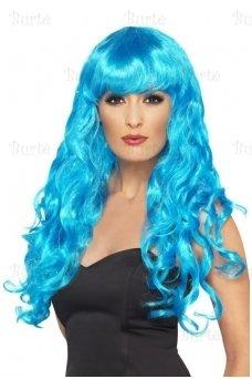 Mėlynos spalvos perukas