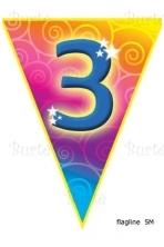 Vėliavėlių girlianda trečiojo gimtadienio proga