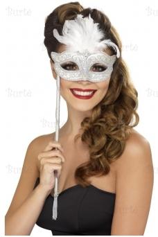 Veido kaukė, sidabrinė