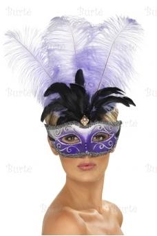 Venecijos kaukė, violetinė